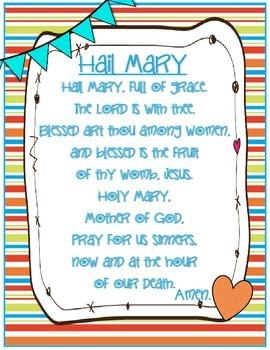 Catholic Prayer Posters {Brights}--Pack One
