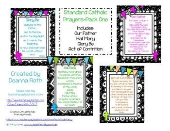 Catholic Prayer Posters Bundle {Packs 1-5}