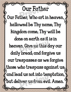 Catholic Religion Prayer Posters {Cocoa}