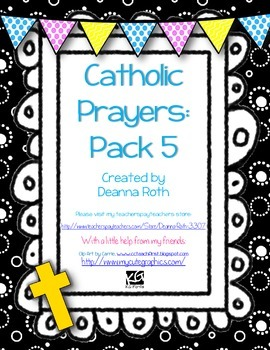 Catholic Prayer Posters--Pack Five