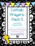 Catholic Prayer Posters--Pack Five