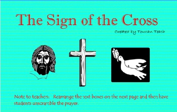 Catholic Prayer Sign of the Cross SMARTBoard Activities