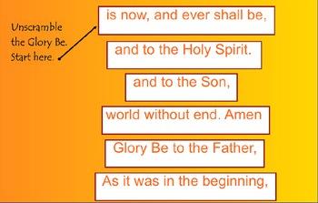 Catholic Prayer The Glory Be SMARTBoard Activities