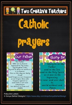Catholic Prayers Candy paper theme