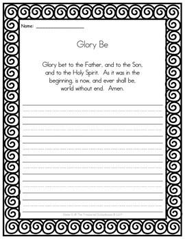 Catholic Prayers Copywork - Print