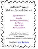 Catholic Prayers Cut and Paste Activities