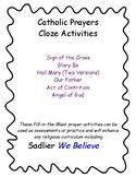 Catholic Prayers Fill-In-The-Blank Activities