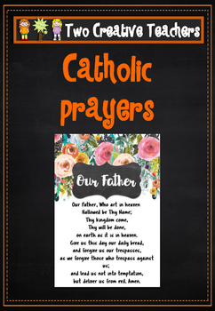 Catholic Prayers - Floral Theme