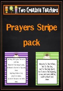 Catholic Prayers - Portrait with Stripes