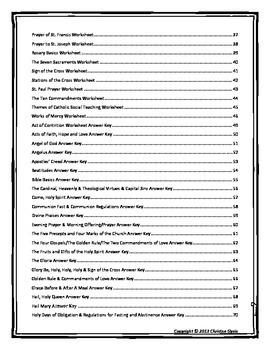 Catholic Prayers & Practices Workbook