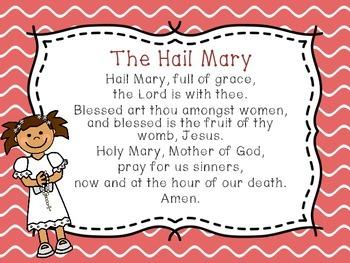 Catholic Prayers Presentation/Posters