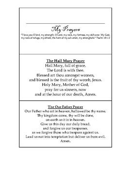 Catholic Prayers Printable