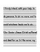 Catholic Prayers Zaner Bloser Handwriting Practice and Assessment
