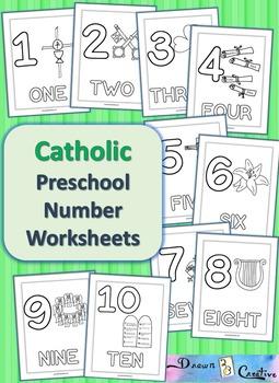 Catholic Preschool Number Worksheets