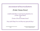 Catholic Reconciliation Certificate