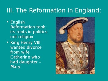 Catholic Reformation and the Spread of Protestantism