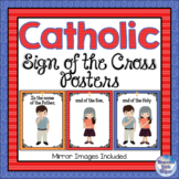 Catholic Religion Posters The Sign of the Cross {Indigo}