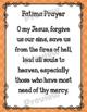 Catholic Religion Prayer Posters {Rainbow Set 2}
