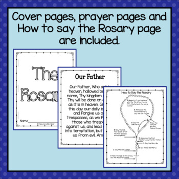 Catholic Rosary Mini Books
