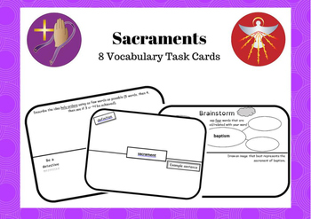 Catholic Sacrament Task Card
