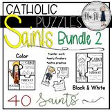 Catholic Saint 3-Piece Puzzles Set Two {40 Saints Included}