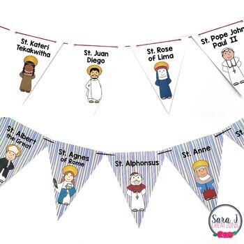 Catholic Saints Banners