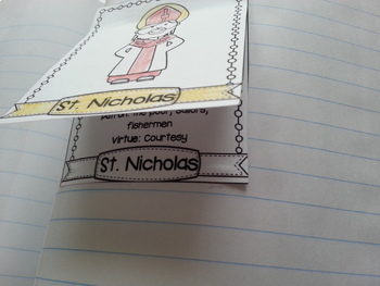 Catholic Saints Interactive Notebook