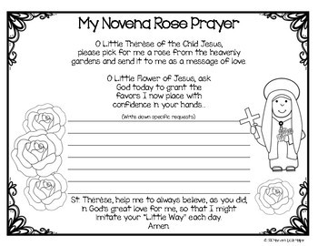 Catholic Saint Therese Novena Rose Prayer