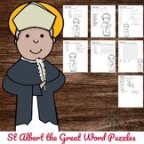 Catholic Saint Word Puzzles - No Prep Activity - St Albert