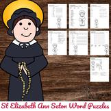Catholic Saint Activity - No Prep  - St Elizabeth Ann Seton