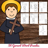 Catholic Saint Word Puzzles - No Prep Activity - St Gerard