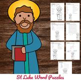 Catholic Saint Word Puzzles - No Prep Activity - St Luke
