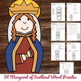 Catholic Saint Word Puzzles - No Prep Activity - St Margar