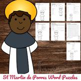Catholic Saint Word Puzzles - No Prep Activity - St Martin