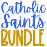 Catholic Saints BUNDLE, Projects, Coloring Pages, Journal, Mini Books