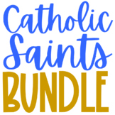 Catholic Saints BUNDLE, Projects, Coloring Pages, Journal,