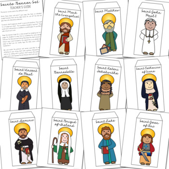 Catholic Saints Banner Craft Project, All Saints' Day Activity {EDITABLE}