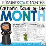 Catholic Saints Biography & Activities (Growing) Bundle- 12 Saints, 12 Months