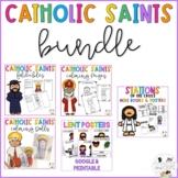 Catholic Saints Bundle! Lent, All Saints Day, Christmas Religion Activities