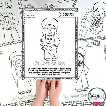 Catholic Saints Coloring Book