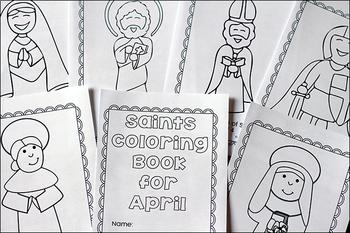 Catholic Saints Coloring Book for April