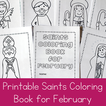 Catholic Saints Coloring Book for February