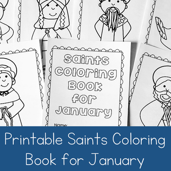 Catholic Saints Coloring Book for January