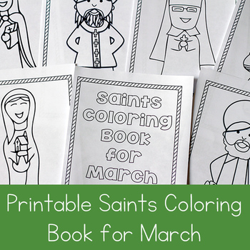 Catholic Saints Coloring Book For March