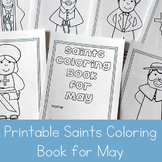 Catholic Saints Coloring Book for May