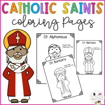 Catholic Saints Coloring Pages Worksheets Teaching Resources Tpt