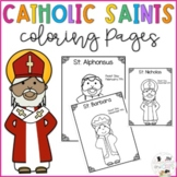 Catholic Saints Coloring Pages - No Prep - Lent- All Saints Day