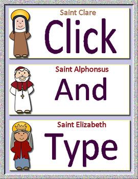 Catholic Saints Interactive Notebook Google Ready Paperless + Self-Grading Test