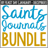 Catholic Saints Journals Set, By Feast Day (January - December)