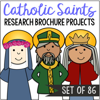 Catholic Saints Research Brochure Projects, BUNDLE OF 86